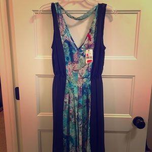 NWT - Black & turquoise dress size M